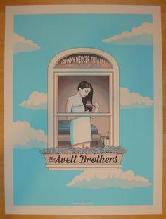 2014 Avett Brothers - Savannah I Concert Poster by Kyle Baker