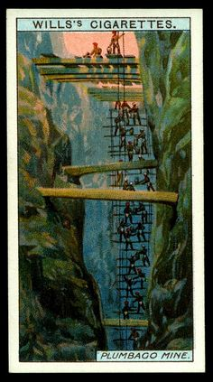 "https://flic.kr/p/e5BcHR | Cigarette Card - Plumbago Mine | Wills's Cigarettes ""Mining"" (series of 50 issued in 1916 #38 Plumbago (Graphite) Mine at Kurnegalle, Ceylon"