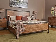 Shop for the Tribecca Tribecca King Panel Bed at Morris Home - Your Dayton, Cincinnati, Columbus, Ohio, Northern Kentucky Furniture & Mattress Store Morris Homes, Urban Loft, Panel Bed, Home Reno, Rustic Style, Home Furnishings, Mattress, King, Bedroom