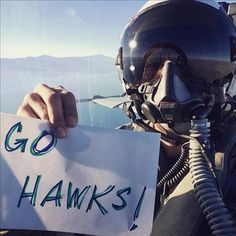 Go Hawks Fighter Pilot Seahawks Fans, Seahawks Football, Sport Football, Seattle Seahawks, Football Stuff, Chicago Blackhawks, Chicago Cubs, Nfc Teams, Sports Teams