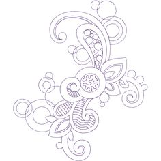 Creative Line Quilting Free Motion Quilting, Machine Quilting, Quilting Designs, Swirls, Embroidery Patterns, Shapes, Quilts, Creative, Floral