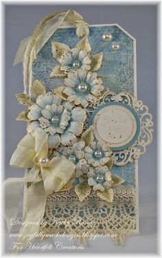 Joyfully Made Designs: Vintage Floral Tag - Heartfelt Creations