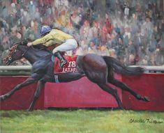 Sea The Stars Arc De Triomphe Longchamp Racehorse Horse Racing Art Oil Painting | #1779195068