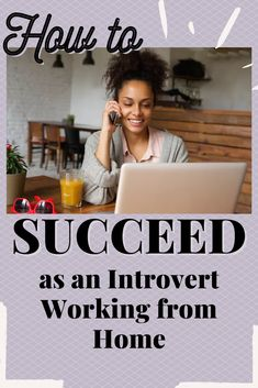 """Surprise! Working from home hasn't been easier on introverts. Here are some tips to boost your comfort, confidence, and success, even if you're """"the quiet one."""" The Quiet Ones, Introvert, Productivity, Confidence, Career, Success, Tips, Carrera, Self Confidence"""