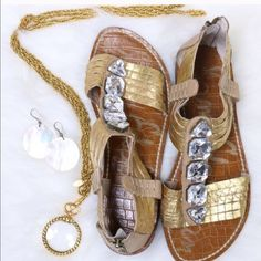 SE Gorgeous Shoes  Sam Edelman jeweled, gorgeous and so comfortable shoes. Lightly worn, great condition. Sam Edelman Shoes