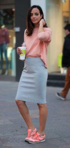 high waisted pencil skirt flats 4