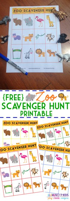 This fun zoo scavenger hunt printable makes going to the zoo super fun for preschooler! How many animals can you find at your zoo? Party Animals, Animal Party, Zoo Animals, Preschool Zoo Theme, Preschool Activities, Zoo Animal Activities, Animal Themes, Preschool Curriculum, Preschool Printables