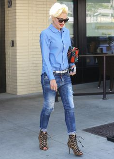"Gwen Stefani Brings New Meaning to ""Business"" Attire from InStyle.com"