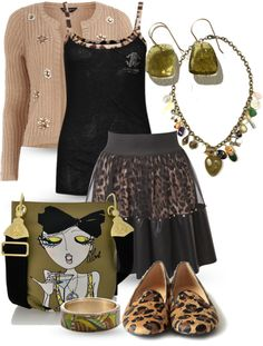 """Leopard loafers"" by yasminasdream on Polyvore"