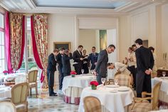 Team at the restaurant of Hotel Le Bristol Paris Le Bristol Paris, Days Hotel, Restaurant, Table Decorations, Photography, Furniture, Home Decor, Beautiful Hotels, Photograph