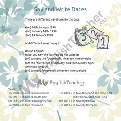 How to Say and Write Dates in English