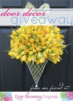 spring door decor. I think I can make this for spring.