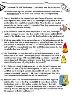 Word Problem Worksheets Grade 4 fraction | Fraction Word Problems ...