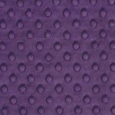 Violet Minky Dot - 1/2 yard - funkymonkeyfabrics