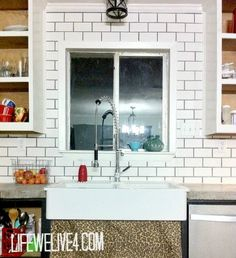 Easy and Cheap Kitchen Makeover DIY ideas on a budget Cheap Kitchen Makeover, Diy Backsplash, Home, Home Kitchens, Tile Backsplash, New Homes, Backsplash, Rehab House, Kitchen Diy Makeover