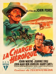 """"""" French grande for SHE WORE A YELLOW RIBBON (John Ford, USA, 1949) Artist: Roger Soubie (1898-1984) """""""