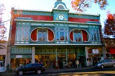 Downtown St. Helena, Napa Valley, California, USA. Photo by Michael Jiroch. This building is on the National Register of Historic Places