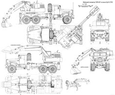 KrAZ Crane blueprint