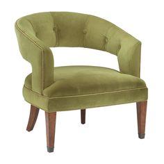 Geneva Velvet Chair  Interesting.