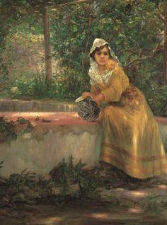 Germán Gedovius, Dama con cántaro.  FOTO: Cortesía