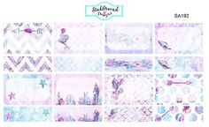 Half and Quarter Box Planner Stickers from the Midnight Mermaid Collection at www.StickAroundDesigns.com
