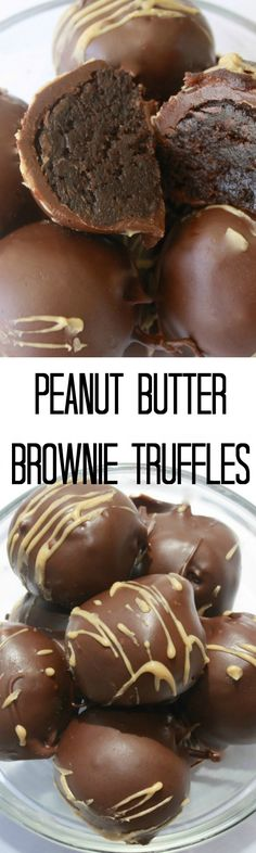 Peanut Butter Brownie Truffles - You have to try this delicious truffle recipe! They will have your mouth watering! | www.sincerelyjean.com