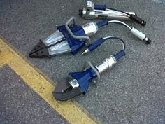 Lukas hydraulic rescue tools, fantastic to use but we carry Holmatro.