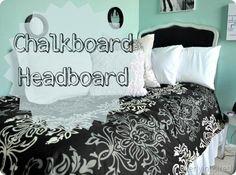 DIY chalkboard headboard DIY Furniture DIY Headboard