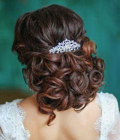 Wedding Hairstyles Half Up Half Down, Wedding Hairstyles For Long Hair, Wedding Hair And Makeup, Bride Hairstyles, Pretty Hairstyles, Bridal Hair, Hairstyle Wedding, Romantic Hairstyles, Bride Makeup