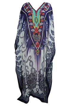 Women's Jewelled Chiffon Kaftan Dresses White Caftan Beac... https://www.amazon.com/dp/B01M9AK8RF/ref=cm_sw_r_pi_dp_x_ZCwpybYCEY1PG #kaftan #bohochic #coverup #beachdress