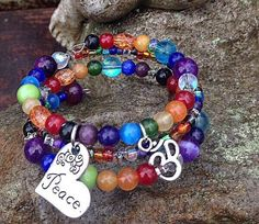 Chakra Bling  https://www.etsy.com/listing/127321825/chakra-bracelet-three-wrap-memory-wire   $25 plus $6 for shipping/ U.S. Orders only