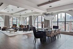 Like the style for the upstairs formal room design and home decoration.