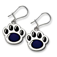 3e8ee6ad2 Penn State Lion Paw Earrings With Blue Enamel. Lion Paw, State Jewelry, Ss