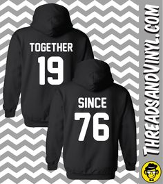 Order includes TWO Unisex hooded sweatshirts for Male & Female ITEM DESCRIPTION -8 oz, 80/20 cotton/polyester machine washable. -Doubled lined hood with matching drawstring. -1x1 athletic rib knit cuf