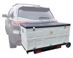 Cove Products The Cargo Box Hitch Mounted Folding Cargo Box Storage Storage Boxes, Storage Spaces, Trailer Hitch Receiver, Pink Bikini Bottoms, Cargo Trailers, Survival Mode, Car Gadgets, Class B, Garage Design