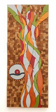 Woman - Semi-Painted Wood Mosaic - February 2015 by Sureel Kumar at SureelArt Wood Sealer, Wood Mosaic, February 2015, Painted Wood, Painting On Wood, Woman, Artwork, Work Of Art