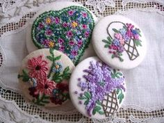Inspiration: French-knot buttons · Needlework News | CraftGossip.com
