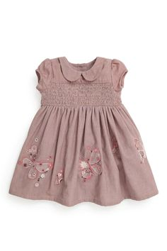 74bd8f282e3 Buy Mink Embellished Butterfly Cord Dress (0-18mths) from the Next UK online