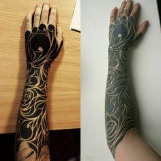 my blackwork tattoo 2013-2016 #blackworktattoo #blackout #black #tattoo #ink #tats #arm #hand