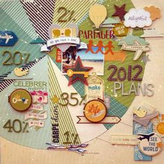 Creative ways to make a timeline scrapbook cover, travel scrapbook, scrapbook page layouts,