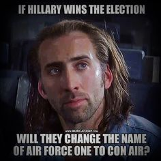 That's what it should be IF she wins! Please vote Trump!!!