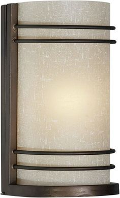 Forte Lighting 5523 01 45Wx8Hx4E ADA Indoor Up Wall Sconce Antique Bronze