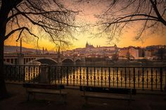 Lonely Prague by Patarapol Tantipidok on Prague, Lonely, Grand Canyon, Celestial, Explore, Sunset, Nature, Cityscapes, Travel