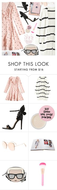 """""""Pretty Powerfull"""" by pokadoll ❤ liked on Polyvore featuring 3 Concept Eyes, Chalayan and Karl Lagerfeld"""