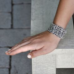 Wrap Bracelet Necklace Wide Bracelet  Leather by PazitKeidarDesign