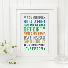 Little Boys Subway Print, perfect for the nursery or bedroom.    For all little boys that like to make mud pies...    All Sweetlove Press prints