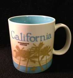 California Starbucks Coffee Mug Collector Series 2010 Surfer Redwood 16 Ounces | eBay