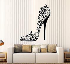 High Heel Shoe Sexy Stiletto Butterflies Swirls Fashion Decor Wall Mural Vinyl Art Decal Sticker M506 in the UAE. See prices, reviews and buy in Dubai, Abu Dhabi, Sharjah. Kitchen - DesertCart