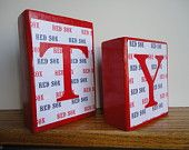 Personalized Baby Name Blocks . Boston Red Sox . Baseball Decor . M2M most Themes