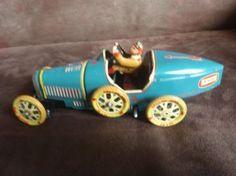 Blikken speelgoed race auto Ballon Cord I-970
